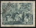 Stamps Argentina -  Obra pictórica del destacado pintor y gran arquitecto argentino Prilidiano Pueyrredon (1823-1870). 1