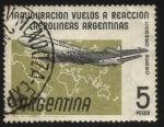 Stamps Argentina -  Avión de pasajeros De Havilland DH 106 Comet 4 C, primer avión a reacción de Aerolíneas Argentinas y