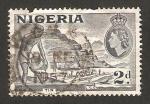 Stamps : Africa : Nigeria :  elizabeth II y minas de estaño