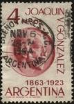 Sellos de America - Argentina -  Joaquín Víctor González. 1863-1923. Político, educador. Gobernador, ministro. Fundador de la Univers