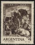 Stamps Argentina -  Carlos Morel pintor 1813 - 1894. Fue el primer gran artista pintor de Argentina.