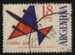 Stamps Argentina -  Correo Aéreo. Emisión para franqueo de correspondencia aérea o común.