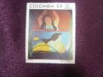Stamps : America : Colombia :  Beatriz González - Las Ninfas Acuáticas.