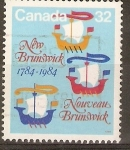 Sellos de America - Canadá -  BICENTENARIO   DE   NEW   BRUNSWICK