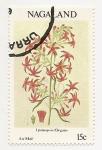 Stamps Asia - Nagaland -  Flor