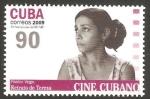 Stamps : America : Cuba :  cine cubano, retrato de teresa de pastor vega