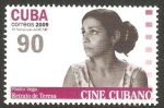 Sellos del Mundo : America : Cuba : cine cubano, retrato de teresa de pastor vega