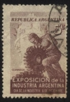 Stamps America - Argentina -  Conmemorativo dìa de la industria. Exposición de la Industria Argentina.