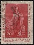 Stamps Argentina -  Santa Bárbara, patrona de los artilleros.