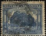 Sellos de America - Argentina -  Edificio Central de Correos. Conmemorativo del primer centenario de la Organización del Correo Argen