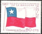 Stamps of the world : Chile :  SESQUICENTENARIO DE LA BANDERA DE CHILE