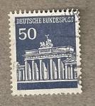 Stamps Germany -  Puerta de Brandeburgo