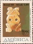 Stamps Brazil -  500 Años del Descubrimiento de América - Muiraquitã.