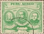 Sellos de America - Perú -  IV Centenario de la Fundación de la Universidad Mayor de San Marcos 1551-1951.