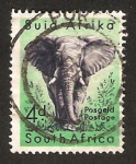 Sellos del Mundo : Africa : Sudáfrica : un elefante