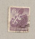 Stamps Germany -  Oso con pala,Berlín