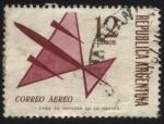 Sellos de America - Argentina -  Correo aéreo. Valores ordinarios para correspondencia aérea y común.