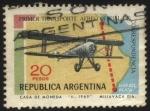 Sellos de America - Argentina -  Ruta Buenos Aires - Mar del Plata, primer transporte aéreo oficial de correspondencia.