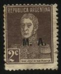 Sellos de America - Argentina -  Libertador General San Martín, sobreimpreso M. A. Ministerio de Agricultura.
