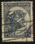 Sellos de America - Argentina -  Cabeza de ganado vacuno.