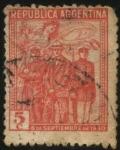 Stamps Argentina -  6 de septiembre de 1930. Militares comandados por el general José Félix Uriburu y Agustín P. Justo,
