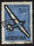 Sellos de America - Argentina -  9no. Campeonato mundial de vuelo a vela año 1963 realizado en la ciudad de Junín, en las instalacion