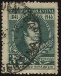 Stamps Argentina -  Conmemorativo del centenario del fallecimiento de Bernardino Rivadavia, primer presidente de la Arge