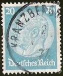 Stamps Germany -  IMPERIO ALEMAN - MEDALLON  PAUL VON HINDENBURG