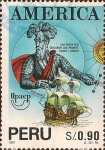 Stamps Peru -  América - Pizarro.