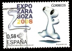 Stamps Spain -  Expo Zaragoza 2008. Mascota y logotipo