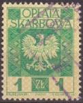 Sellos de Europa - Polonia -  Polonia Oplata Ksarbowa 1960 Sello Aguila Polaca 1Zt Usado Polska Poland Polen Pologne