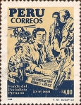 Stamps Peru -  Fondo del Periodista Peruano.
