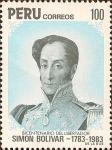 Stamps Peru -  Bicentenario del Libertador Simón Bolívar, 1783-1983.