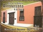 Stamps Peru -  Día de la Cultura Afroperuana (4 jun). Museo Nacional Afroperuano - Lima
