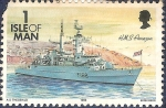 Stamps Isle of Man -  HMS Amazon