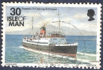 Stamps Europe - Isle of Man -  Snaefell zarpando de Androssan