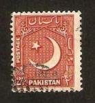 Sellos de Asia - Pakistán -  escudo de armas,media luna