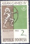 Stamps Indonesia -  IV Juegos Asiáticos