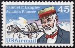 Sellos del Mundo : America : Estados_Unidos : SAMUEL P. LANGLEY-Pionero de la aviación