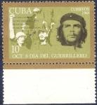 Sellos de America - Cuba -  8 de octubre día del guerrillero
