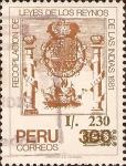Stamps of the world : Peru :  Recopilación de Leyes de los Reynos de las Indias, 1681.