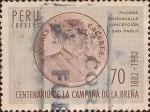 Stamps Peru -  Centenario de la Campaña de la Breña, 1882-1982. Andrés A. Cáceres.