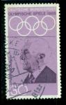 Sellos del Mundo : Europa : Alemania : Juegos Olímpicos. Pierre Coubertin