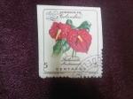 Stamps : America : Colombia :  Anthurium Andreanum