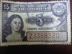 Stamps of the world : Colombia :  República de Colombia-Policarpa Salavarrieta-Timbre Nacional - Código de catálogo:Col.CO 1973-4