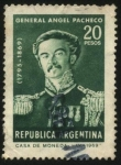 Stamps Argentina -  General Angel Pacheco 1795 - 1869. Destacado comandante de las tropas de la Confederación Argentina.