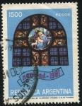 Stamps Argentina -  Navidad de 1981. Vitral de la Basílica Menor Nuestra Señora de la Merced,  de la ciudad de San Migue