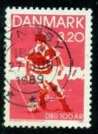 Sellos del Mundo : Europa : Dinamarca : Futbol