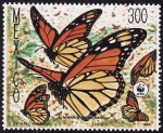 Stamps Mexico -  MARIPOSAS
