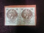 Stamps : Europe : Italy :  Antigua Moneda Siracusana.-República Italiana